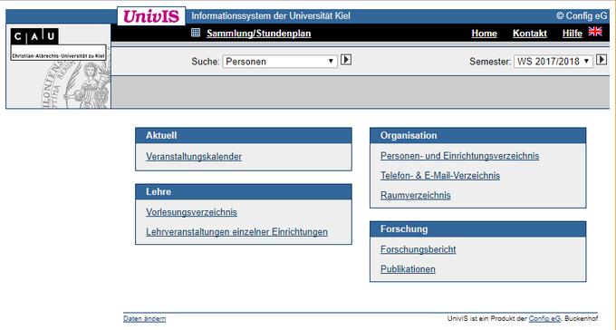 UniVis Startseite