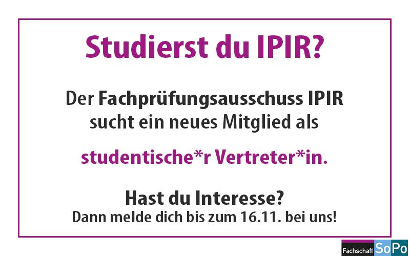 Ausschreibung IPIR FPA 2020