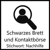 Schwarzer Brett Button